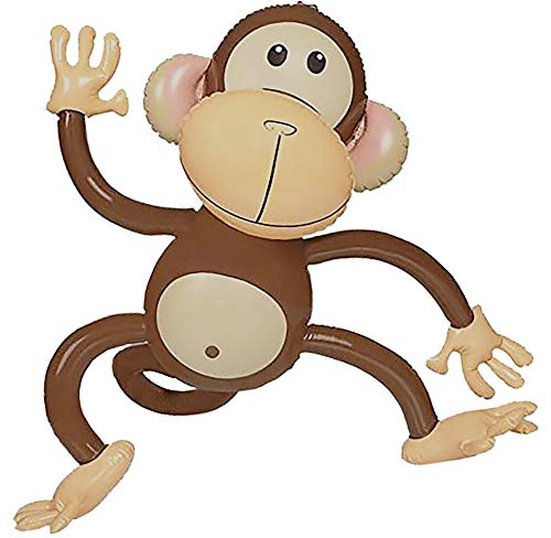 Inflatable Monkey (4 Pack) 27 Inch Monkeys For Jungle Safari Birthday...