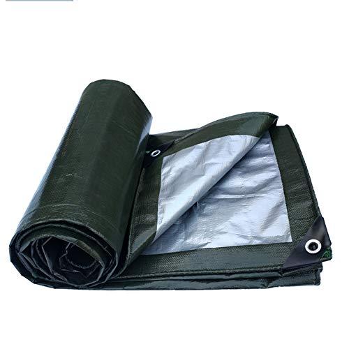 Abdeckplane für den Außenbereich, wasserfest, Linoleum, Oxford PE-Gewebe 5.8x11.8m Army Green Silver