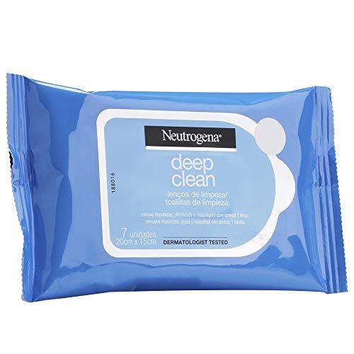 Lenços Demaquilantes Deep Clean, Neutrogena, 7 Unidades