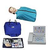 GXGX CPR Manikin Kit Medio Cuerpo CPR Primeros Auxilios RESUCKIZACIÓN DUMMENTO CARDIOPULMONARIO RESUMINIO Maniquí, con el Controlador de exhibición para la investigación