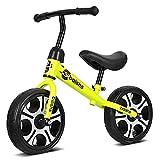 HJRBM Bicicletas para niños Coche Deslizante de Equilibrio para niños, sin Pedal Bicicleta de Equilibrio Ligera para Entrenamiento Infantil
