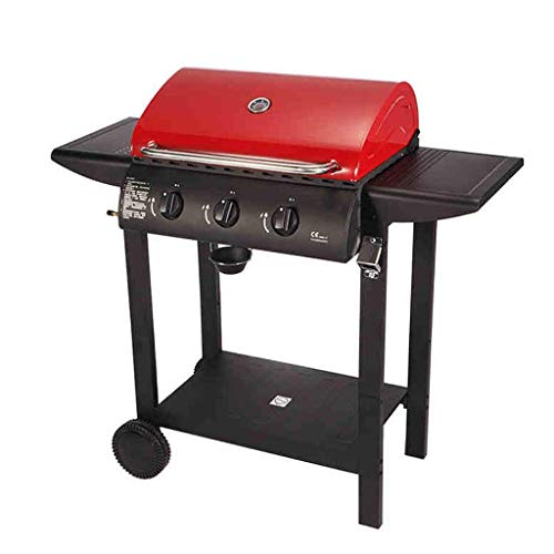 BBQ Grill Outdoor Gas BBQ Grill Villa Courtyard BBQ Grill for 5 or More People BBQ Grill 65x49.9x37cm @ (Color: Red)
