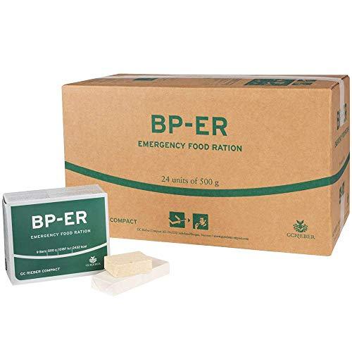 BP-ER Notration | Emergency Food Ration | Karton mit 24 x 500g | Langzeitnahrung | sofort verzehrfertig