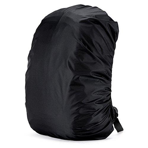 CUCKOO 80L Nylon wasserdichte Rucksack Regenschutz Rucksack Wasser Resist Abdeckung Leichte Packung für Wandern Camping Reisen Outdoor Aktivitäten, schwarz