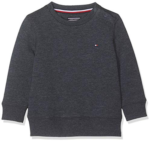 Tommy Hilfiger Jungen Boys Basic Sweatshirt, Blau (Sky Captain 420), 140 (Herstellergröße: 10)