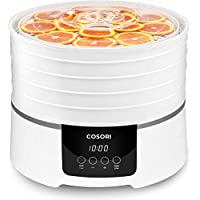 COSORI Deshidratador Alimentos 500W de 5 Bandejas sin BPA, Control Táctil de Temperatura y Temporizador Ajustable, Función de Memoria y Apagado Automático para Carnes, Frutas y Vegetales