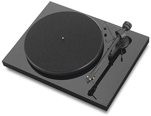Pro-Ject Debut III - Tocadiscos (Ortofon OM5), negro de alto brillo