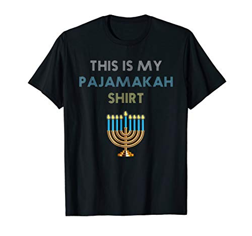Funny Hanukkah Pajama Shirt - This is My Pajamakah Gift Tee