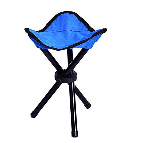 TTZY Chaise de pêche en Plein air Pliable Trois Pieds Chaise de Plage Portable trépied Tabouret Chaise Pliante Camping Marche Pique-Nique Jardin Petit, Bleu
