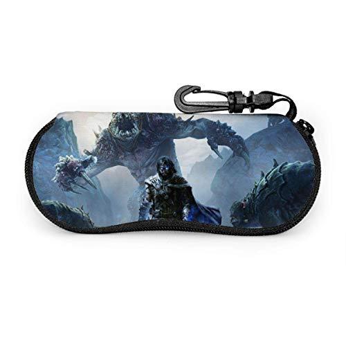Funda para Gafas de la Sombra de la Tierra del Milieu du Mordor, Estuche para Gafas de Viaje con Cremallera de Viaje portátil