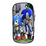 FENGHU Sonic Il Riccio Astuccio Astuccio per matite Anime Sonic Astuccio per Scuola per Bambini Astuccio per stazionario Astuccio per matite per Ragazze per Ragazzi Sonic Torna a Materiale Scolastico