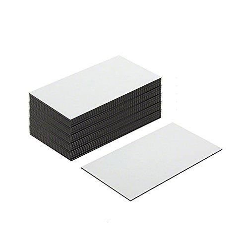 First4magnets MFL8951(GWD) Flexible magnetische Etiketten mit glänzend weiß trocken wischen Oberfläche (89 x 51 x 0,76 mm) (Packung mit 100), silver, 25 x 10 x 3 cm