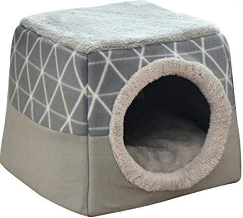 YGTMV Cat Litter Space Capsule, Pet Tent Cave Bed, Four Seasons Universal Cat House Closed Room Bamboo Pet Supplies Cat Nest Pet Bed (L)