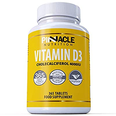 Vitamin D3 4000iu 365 Tablets   One Year Supply   Vitamin D
