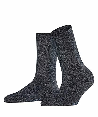 FALKE Damen Shiny W SO Socken, Blickdicht, Blau (Dark Navy 6370), 35-38