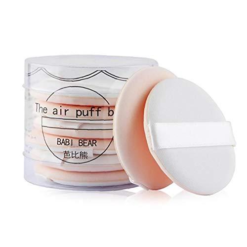 Lot de 8 maquillage ultra-douce Fondation éponge coussin d'air Puff Puff Maquillage Set de beauté cosmétiques outil Blending éponge pour la crème liquide et en poudre (beige)