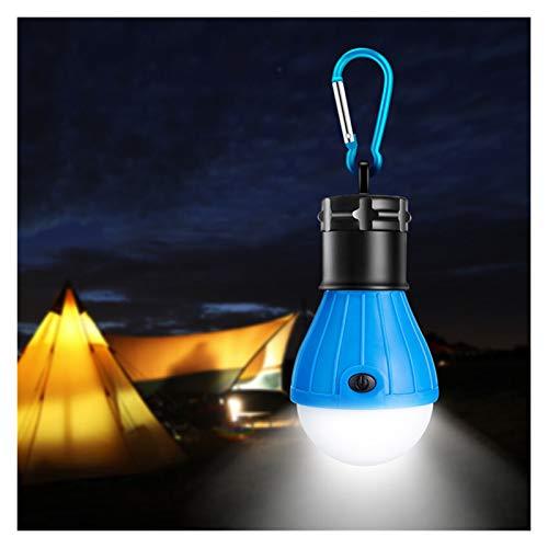 RH-HPC Carpa de la lámpara Linterna portátil for Bombilla LED Que acampa de la batería de alimentación 3xAAA Caza Pesca de la Noche la luz de Trabajo (Wattage : Blue)