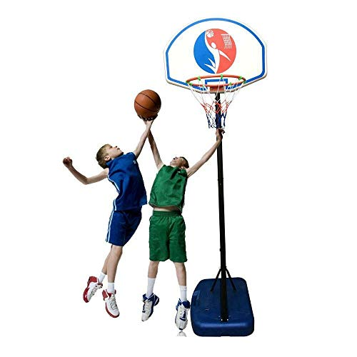 Purchase Modern 6FT Adjustable Basketball Hoop System Stand Outdoor Net Goal for Youth Kids