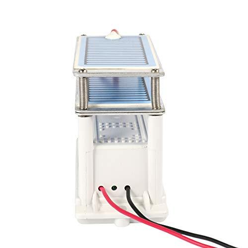 Portátil 20 g/h de cerámica Generador de ozono Doble placa integrada Ozonizador Purificador de aire de agua para la fábrica de productos químicos Esterilización para el hogar del automóvil