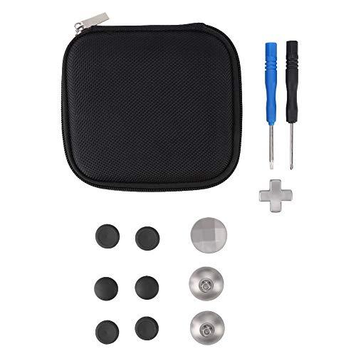 Cuifati Kit de Remplacement de Boutons de poignée, Kit de Remplacement de Boutons de poignée 14PCS/Set, clé de contrôleur pour Xbox One ELITE/PS4/Switch, Installation Durable et Facile(Noir)