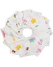ガーゼハンカチ ガーゼ 赤ちゃん ハンカチ 沐浴布 ベビービブ- 沐浴布 ダブルガーゼハンカチ綿100% 30*30㎝ 12枚 …