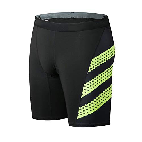 Lefuyan Cyclisme Shorts sous-Vêtements VTT Vélo Moto Pantalon De Compression,Vert,XL