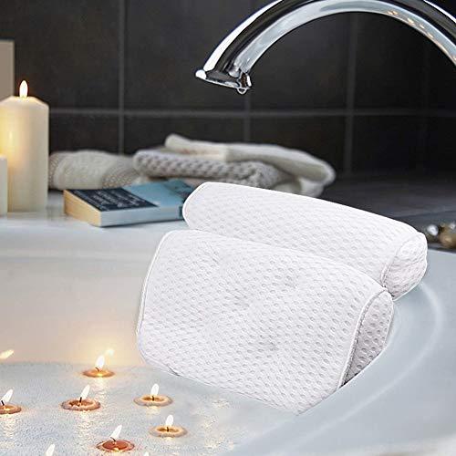 Yangxue Bath Pillow,Bath Pillow Bathtub for Women Men 4D Air Mesh with 7 Suction Cups No- Slip Thick Bathtub Cushion for Head, Back and Neck Support,Fits All Bathtub,Home Spa