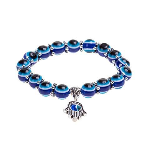 Heall Pulsera Pulsera del Encanto de los Ojos Azules Diseño cristalino de la Manera turca Ojo Suerte para Hombres de Las Mujeres con Estilo único muñeca de la Cadena La Herramienta cosmética