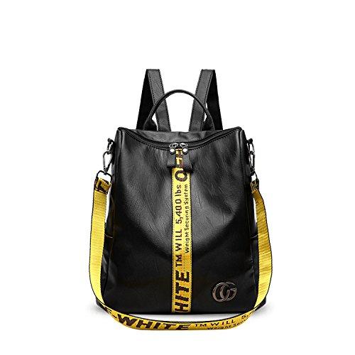 NICOLE & DORIS Damen Rucksack Frauenrucksack Modischer Umhängetasche Rucksack für Damen Fashion Handtaschen Schulrucksäcke Tasche Gelb