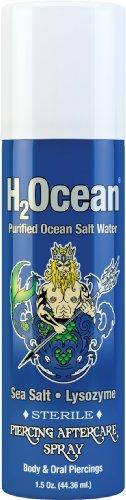 H2Ocean 1,5FL OZ gereinigte Ocean Salz Wasser Piercing Nachsorge Spray, blau