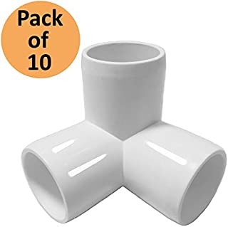 SELLERS360 3WayTee 1-1/4in PVC Fitting Elbow - Build Heavy Duty PVC Furniture - PVC Elbow Fittings (Pack of 8)