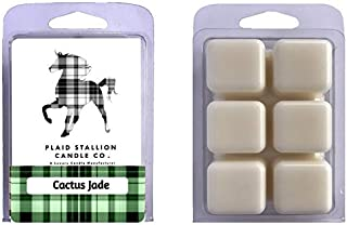 The Plaid Stallion Cactus Jade - Agave, Aloe, Chrysanthemum, Succulent Scent (2 Pack) Scented Wax Melts Clamshells