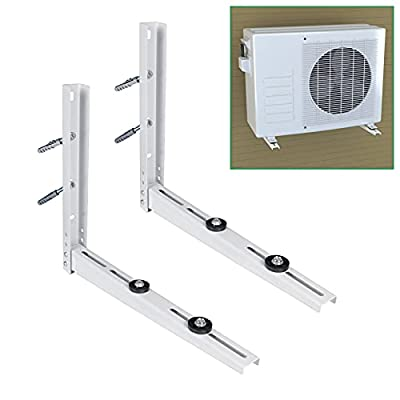 Forestchill Outdoor Wall Mounting Bracket, 2-Ways Install, Universal Fits Ductless Mini Split Air Conditioner Outside Condenser Units, Heat Pump Systems, Support up to 280 lbs, 9000-15000 BTU