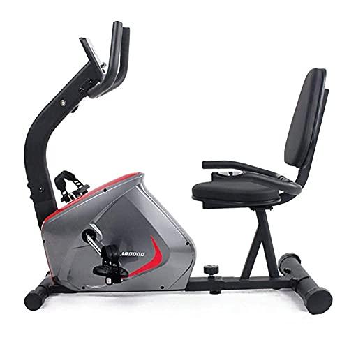YQG Bicicleta estática reclinada, bicicleta de interior con 8 niveles de resistencia y asiento ajustable, utilizada para ejercicios aeróbicos en casa y terapia física, pantalla LCD