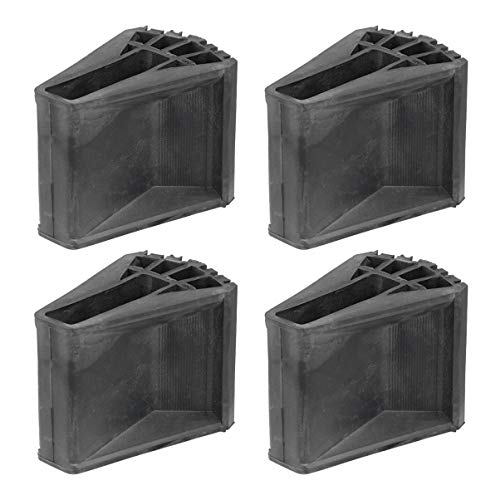 ULTECHNOVO - 4 pies antideslizantes para escalera de extensión de goma que cubren la sustitución de los parachoques de seguridad de goma