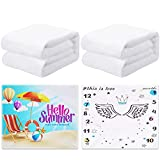 Macarrie 2 Pieces Sublimation Baby Swaddle Blanket Heat Transfer Blank Baby Monthly Milestone Swaddle Blanket Heat Press Throw Blanket Heat Transfer Blanket for Sleeping Bag (30 x 40 Inch)