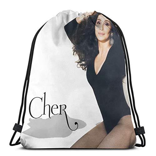 fenrris65 Drawstring Bag Cher String Backpack Terylene for Men Women