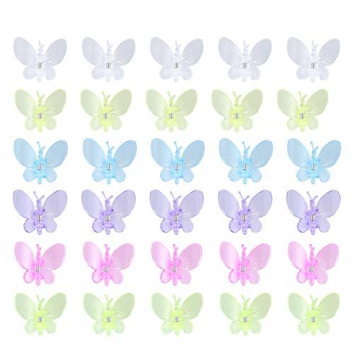 Yardwe 30 x Schmetterlings-Orchideen-Clips zur Unterstützung von Stängeln, Reben, Stängeln, aufrechtes Wachstum