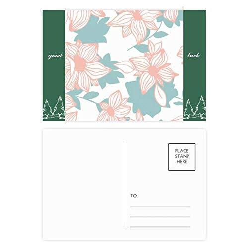 Blauw Curaçao Bloem Plant Verf Veel Geluk Postkaart Set Kaart Mailing Zijde 20 stks