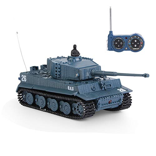 VGEBY1 RC Tank Toy, 1/72 Scale 4 Channels High Simulated Remote Control...