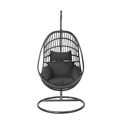 Gartentraum Elegante sillón colgante Madro en color negro.
