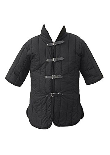 Epic Armoury IF-300770M Gambeson – RFB – Epic Black – One Size Padded Armour Unisex Erwachsene