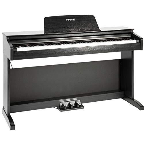 Fame DP-2000 BK Digital Piano matt schwarz (Elektronisches Klavier für Einsteiger mit Hammermechanik, 88 Tasten, 3 Pedale & Kopfhörer-Anschluss)
