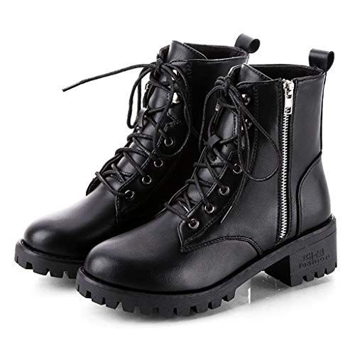 Zlolia Women's Motorcycle Rain Boots Waterproof Slip on Shoes Nonslip Short Booties Rubber