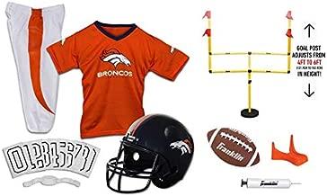 Franklin NFL Denver Broncos Youth Licensed Deluxe 9-pc Uniform Set, Medium