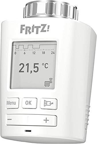 GGA AVM 20002822 FRITZDECT 301-Regulador Inteligente para la Red doméstica, para Todo Tipo de válvulas de radiador y FRITZBox con Base DECT-Basis, FRITZOS a Partir de la versión 6.83, Blanco