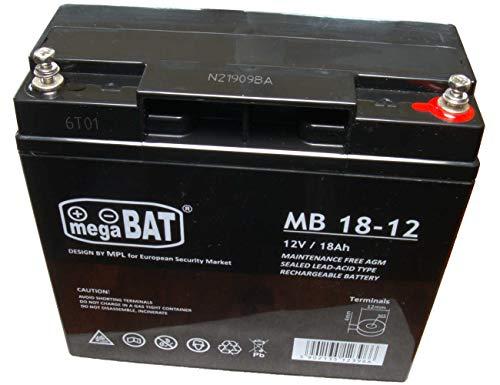 megaBAT Bleigel Akku Bleiakku ersetzt Panther AGM 12-18F, FirstPower APC RBC7