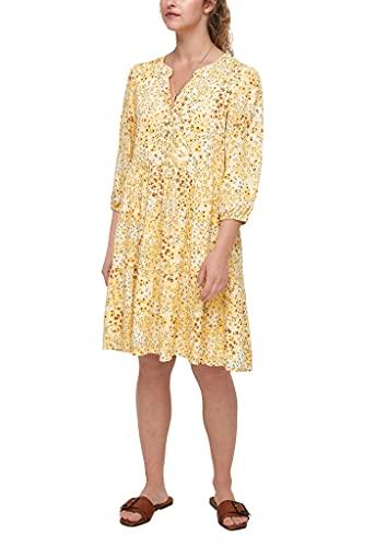 s.Oliver Damen 120.10.105.20.200.2064505 Kleid, Sunlight Yellow AOP, 44