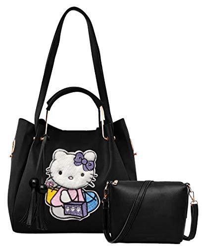 Envias Women's Leatherette Handbag & Sling Bags Combo