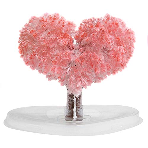 Magic Growing Tree, Paper Sakura Crystal Trees Desktop Cherry Blossom Toys, DIY Crystal Christmas Tree Decoration Blossom Paper Tree Kids Creative Birthday Gift Novelty Toys Gifts Motif Amour